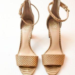 Vince Camuto Beah Block Strap Heel Size 7.5